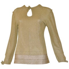 Early 1970s Leonard Paris Gold Lame Top