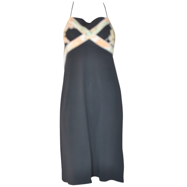 1960s Leonard Paris Signed Halter Dress