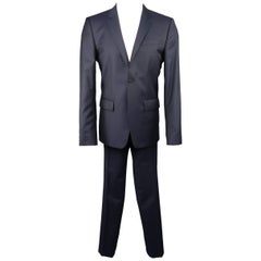 Men's GIVENCHY 40 Short Navy Wool 2 pc Notch Lapel Suit