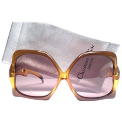 Christian Dior Vintage Miss Dior Oversized Optyl Sunglasses, 1970s