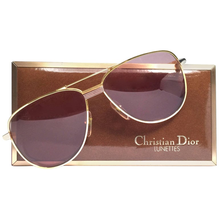 Christian Dior Monsieur Titanium Gold Optyl Germany Sunglasses For Sale