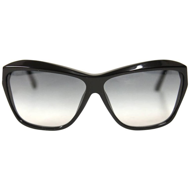 9b58b587fa6 Chanel Black Pvc Sunglasses