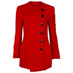 Giorgio Armani Vintage Red Asymmetrical Jacket Sz IT42