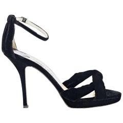 Black Jimmy Choo Suede Sandals