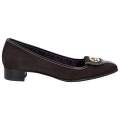 Brown Gucci Suede Loafers