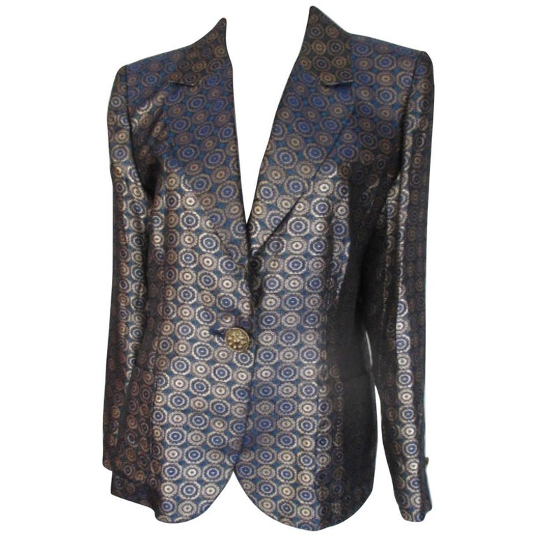yves saint laurent Variation Collection gold and blue jacket