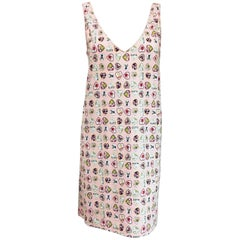 Chanel Casual Heart Charms Pink Sleeveless Dress