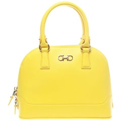 Salvatore Ferragamo Yellow Darina Crossbody Bag
