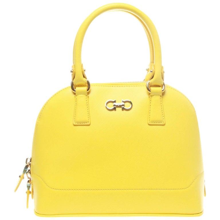 Salvatore Ferragamo Yellow Darina Crossbody Bag