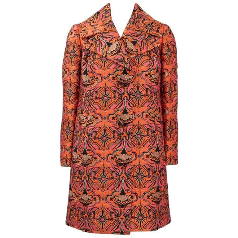 Jean Hercey Haute Couture Brocade Coat