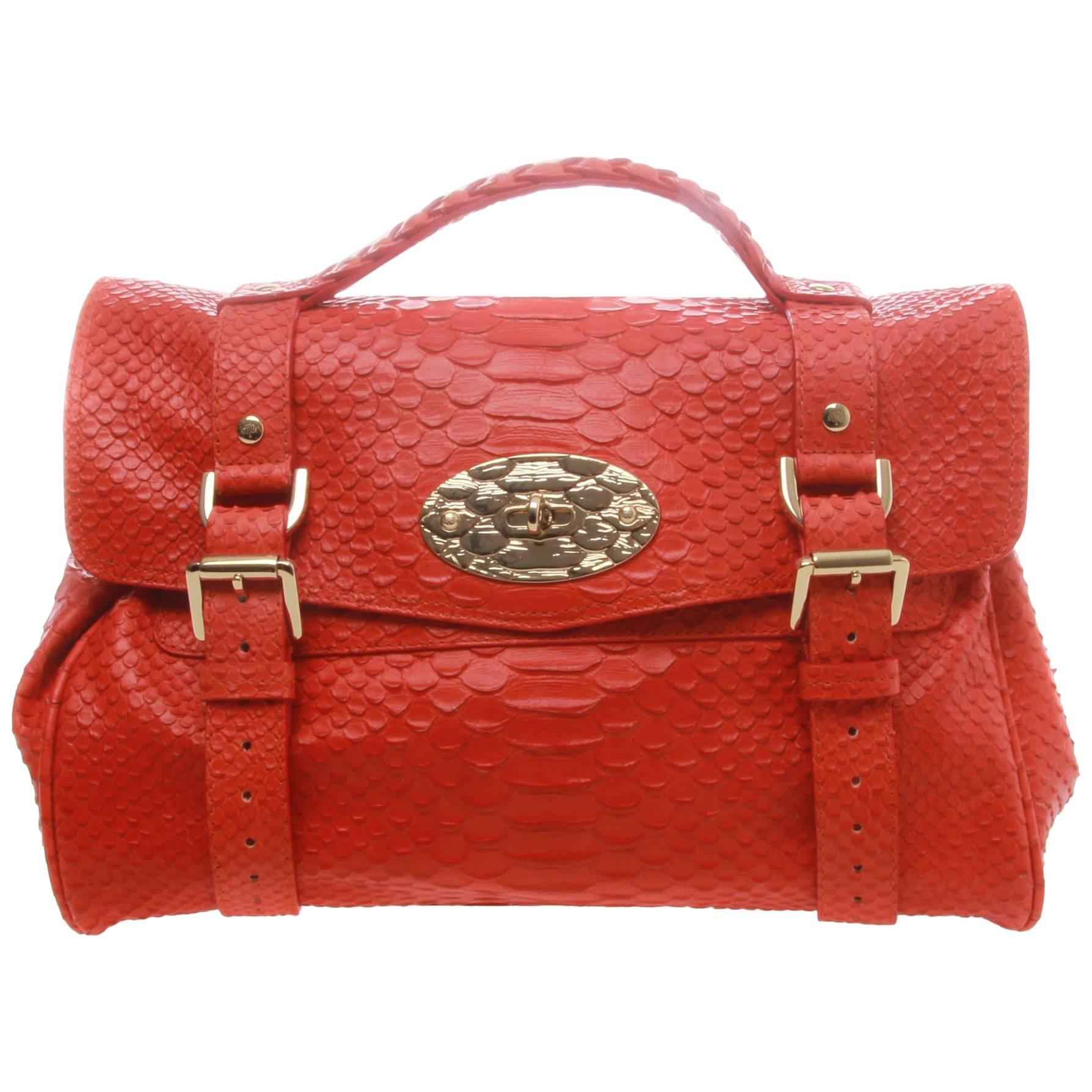 ... bags wallets on 7b5fc 8b947 promo code for mulberry alexa flame silky  snake print leather satchel bd987 2a45c ... 994b8f22ec51b