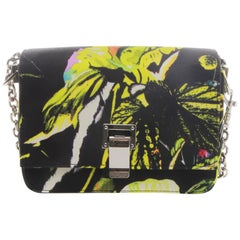 Proenza Schouler Small Courier Floral Print On Satin Crepe Crossbody Bag