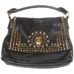 Givenchy Black Leather Studded Shoulder Bag