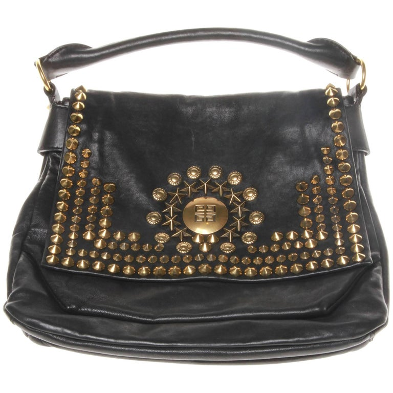 8c2d47603d Givenchy Black Leather Studded Shoulder Bag For Sale. Authentic GIVENCHY  limited edition ...