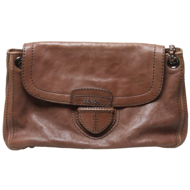 Prada Taupe Tan Easy Shoulder Bag
