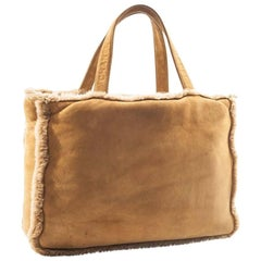CHANEL Tote Bag in Brown Shearling Leather