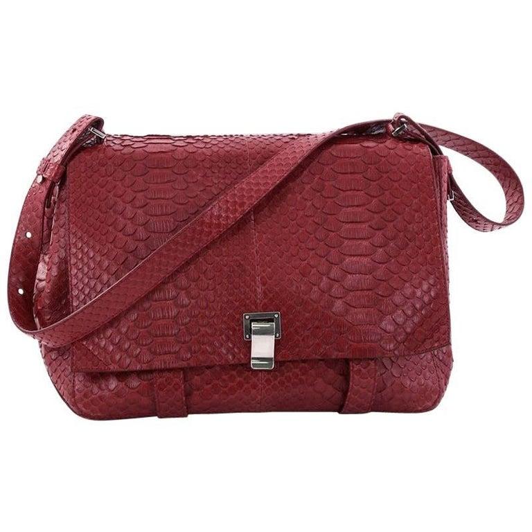 Proenza Schouler Courier Bag Python Large