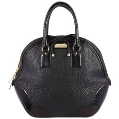 Burberry Orchard Bag Heritage Grained Leather with Ostrich Medium
