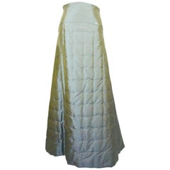 Chanel Grey Iridescent Quilted Skirt - 36 - 99A