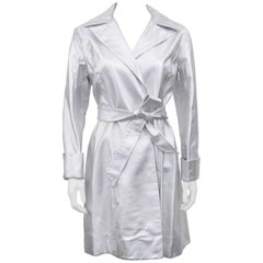 1960s Sliver Leather Trench Coat