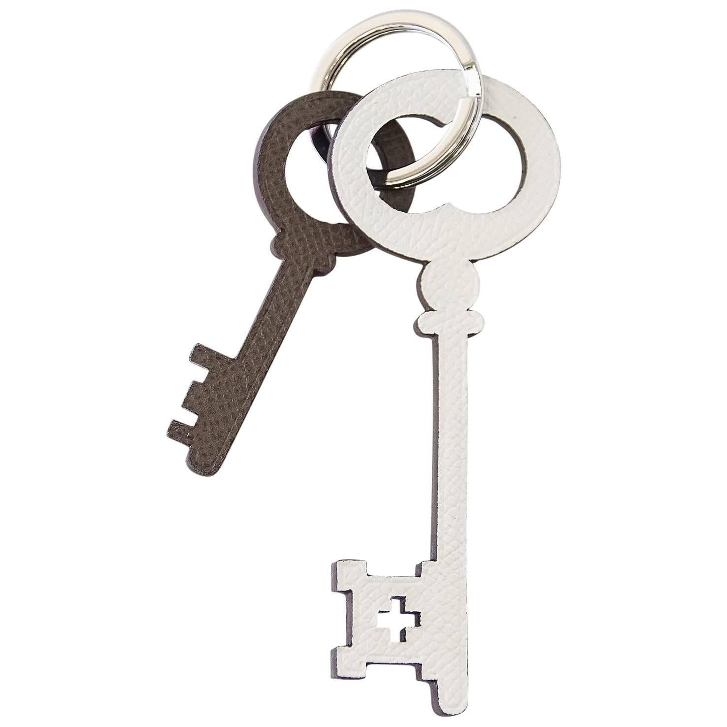Hermes Key Ring Petite h Reversible Color Key Charms  Limited Edition
