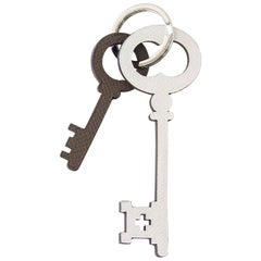 Hermes Key Ring Petite h Reversible Color Key Charms