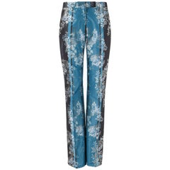 "ALEXANDER McQUEEN A/W 2002 ""Supercalifragilistic"" Two Tone Floral Brocade Pants"