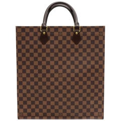 Louis Vuitton Sac Plat Ebene Damier Canvas Tote Hand Bag
