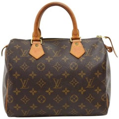 Louis Vuitton Vintage Speedy 25 Monogram Canvas City Hand Bag