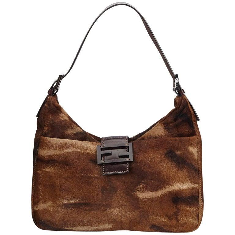 52671f409ed3 Fendi Brown Pony Hair Handbag at 1stdibs