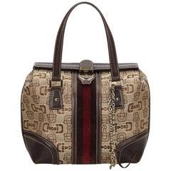 Gucci Brown Guccissima Web Handbag