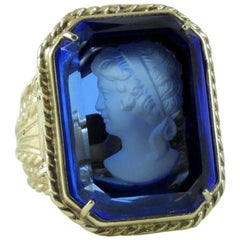 Murano Glass Bronze Fashion Ring by Patrizia Daliana