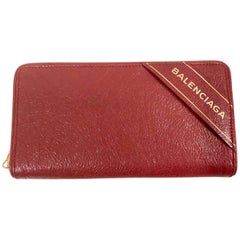 Balenciaga Wallet in Red Leather 2017