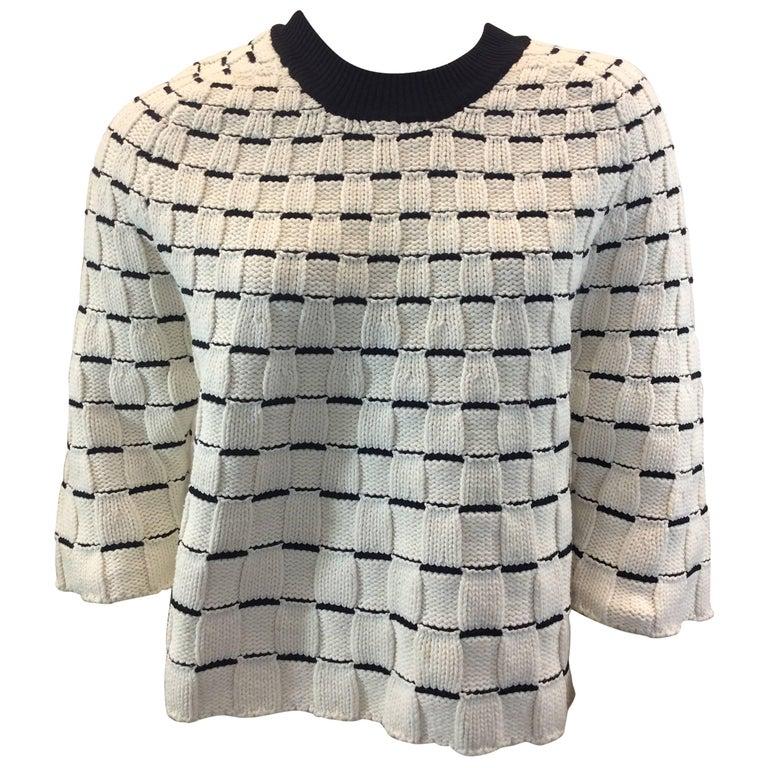 Phillip Lim White and Black Sweater