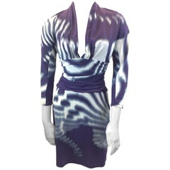 Roberto Cavalli Purple Print Dress