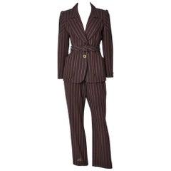 Christian Lacroix Belted Pant Suit