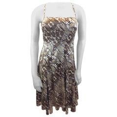 Roberto Cavalli Brown Print Dress