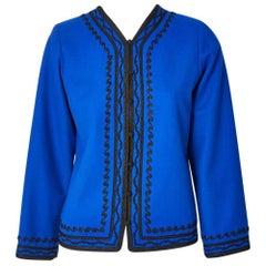 Yves Saint Laurent Rive Gauche Wool Jacket with Passementerie Detail