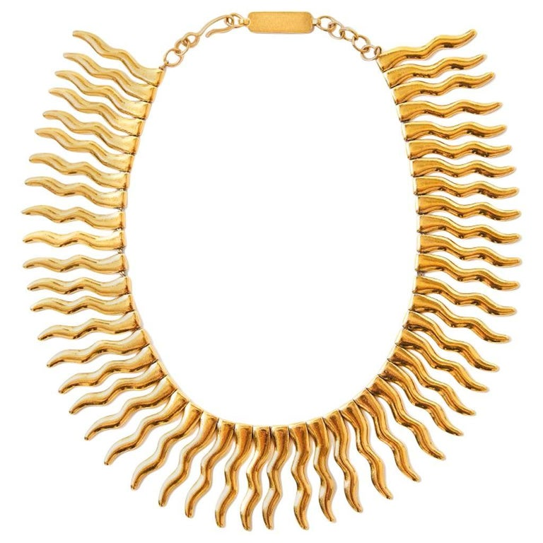 Yves Saint Laurent Signed and Numbered Sunburst Necklace For Sale