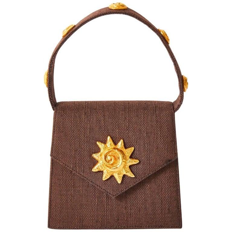 Edouard  Rambaud Chocolate Brown Mini Handbag
