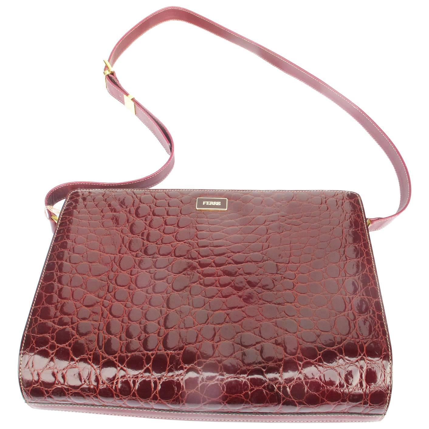 1stdibs 1980s Caramel Crocodile Leather Shoulder Bag 1tHEXUi