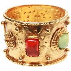 Vintage Christian Lacroix Gold-tone Clamp Cuff