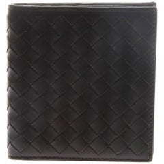 Bottega Veneta Brown Intrecciato Bi-Fold Wallet