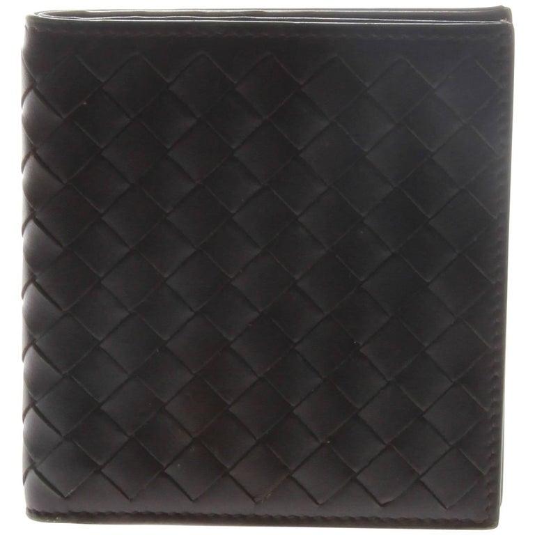 Bottega Veneta Brown Intrecciato Bi-Fold Wallet