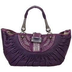 DiorPurple Leather Tote Bag
