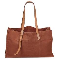 Hermes Brown Etriviere Tote Bag