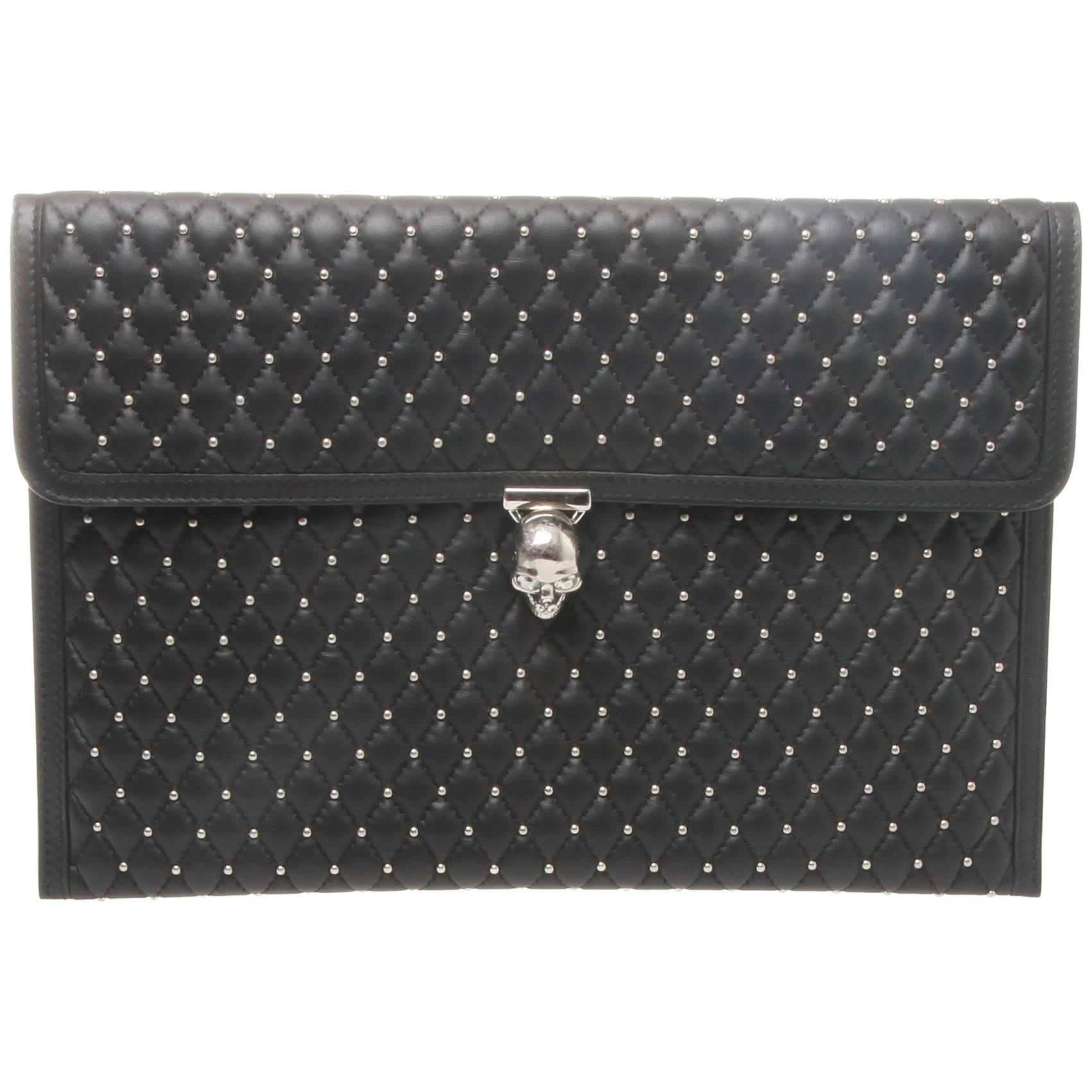 Alexander McQueen Studded Quilted Leather Double Clutch 9i1oXntjR