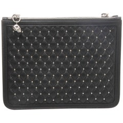 Alexander McQueen Studded Quilted Leather Double Clutch
