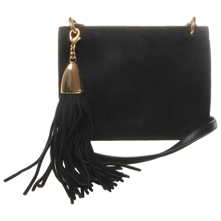 Nina ricci black mini lambskin bag