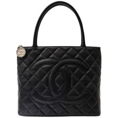 Chanel Black Quilted Caviar Leather CC Bag
